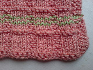 Garter rib dishcloth (1)